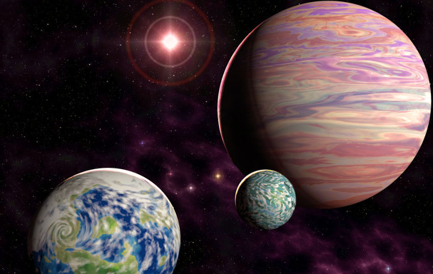 science fiction planets in space