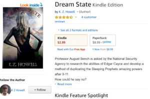 Book review of K.Z. Howell's Dream State novel on Amazon