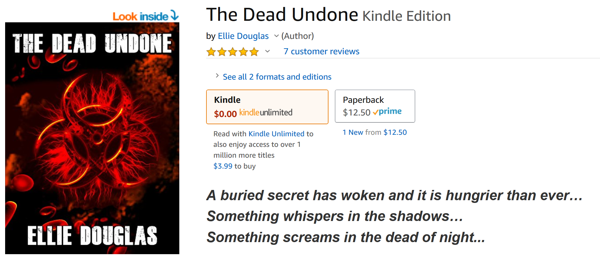 Travis Borne's book review of The Dead Undone by Ellie Douglas