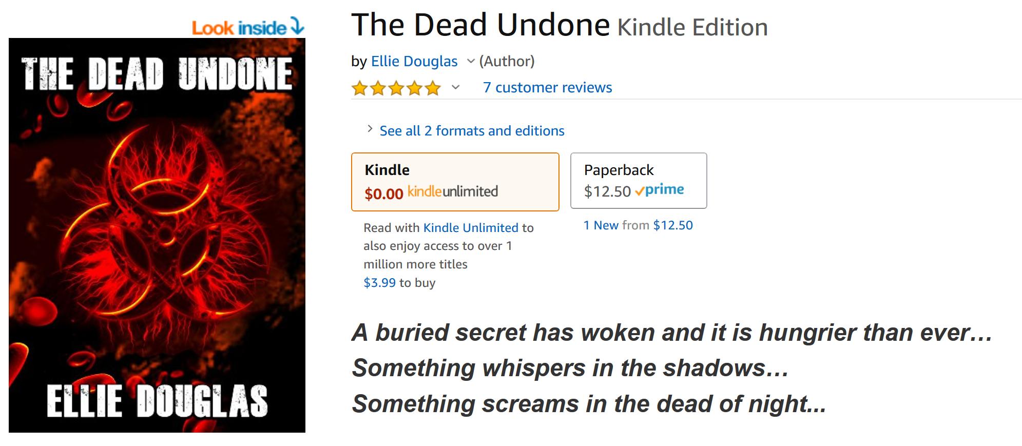 Travis Borne's book review of The Dead Undone by Ellie Douglas