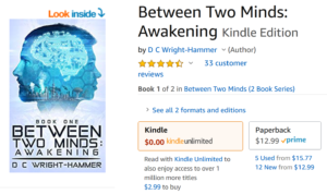 Trravis Borne's book review of Between Two Minds: Awakening by DC Wright-Hammer