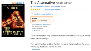 Author Travis Borne's book review of The Alternative, by Suzanne Burke